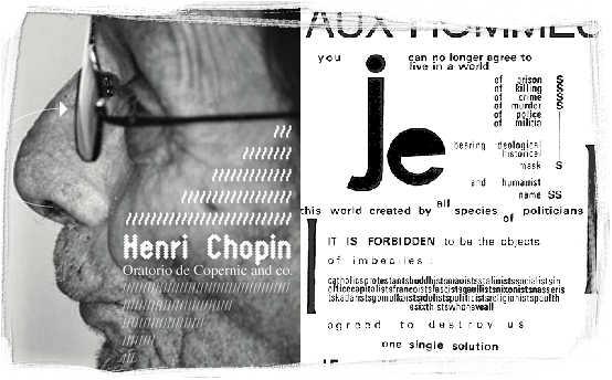 henri chopin oratorio de copernic