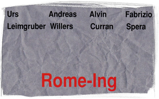 leimgruber, willers, curran, spera: rome-ing